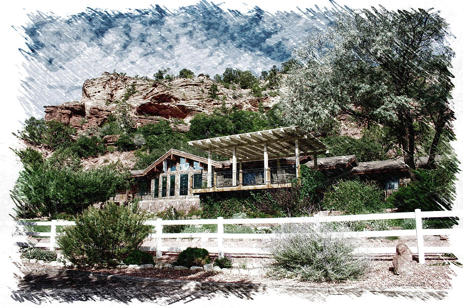 Kanab Utah Photograph - Visitor Center Best Friends Animal Sanctuary Angel Canyon Knob Utah Pa 01 by Thomas Woolworth