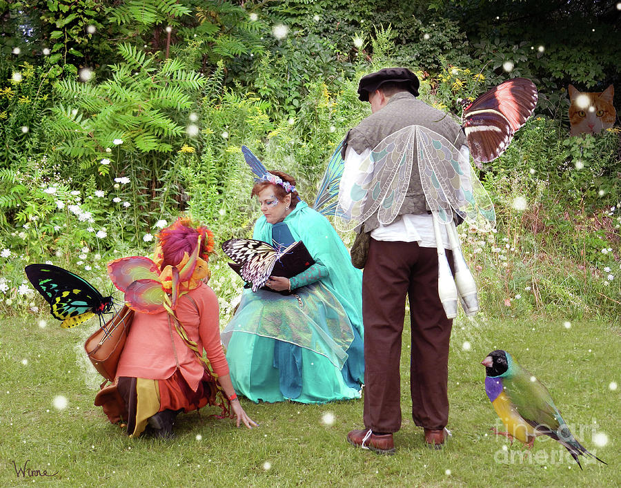 Fairy Digital Art - Visitors At A Fairy Blessing by Lise Winne