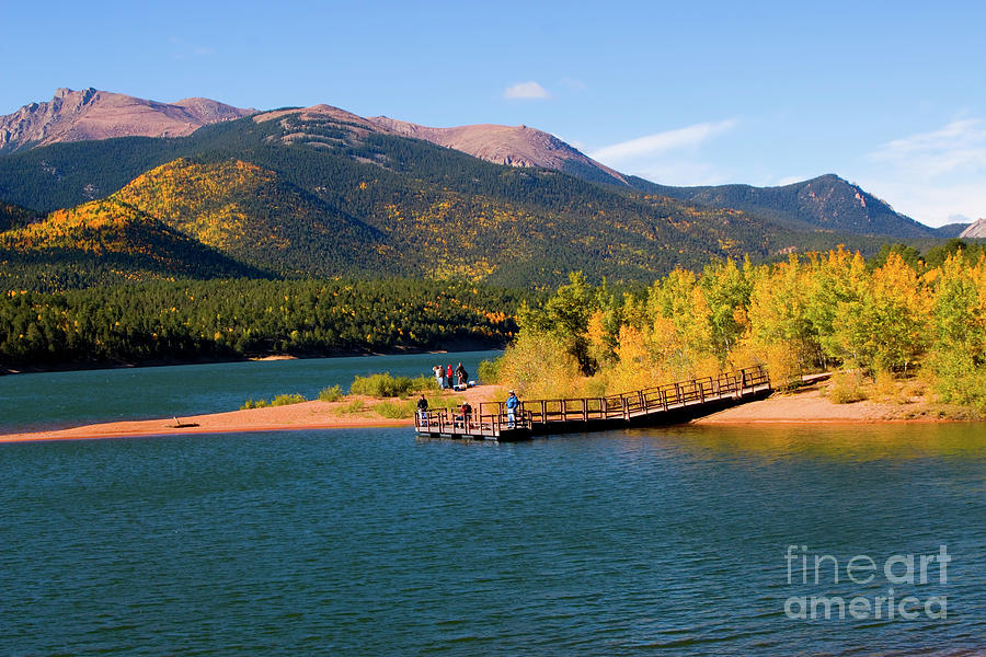 Visitors At Pikes Peak And Crystal Reservoir Photograph