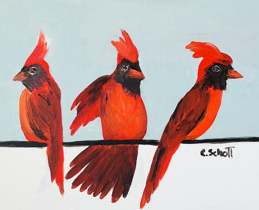 Visits From A Dancing Cardinal by Christina Schott