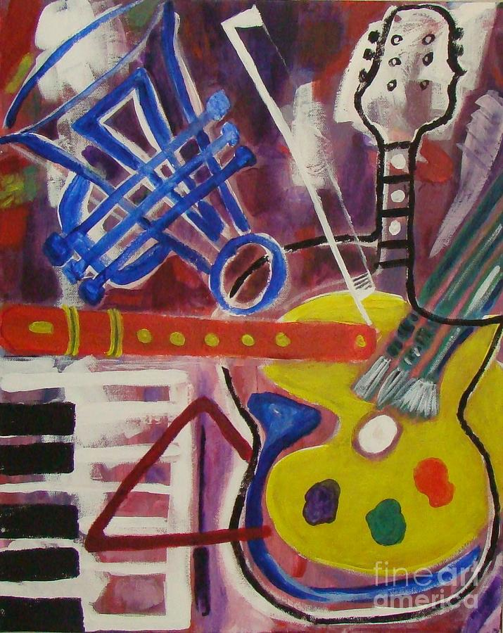 Music Painting - Vismuso by Olivia  M Dickerson