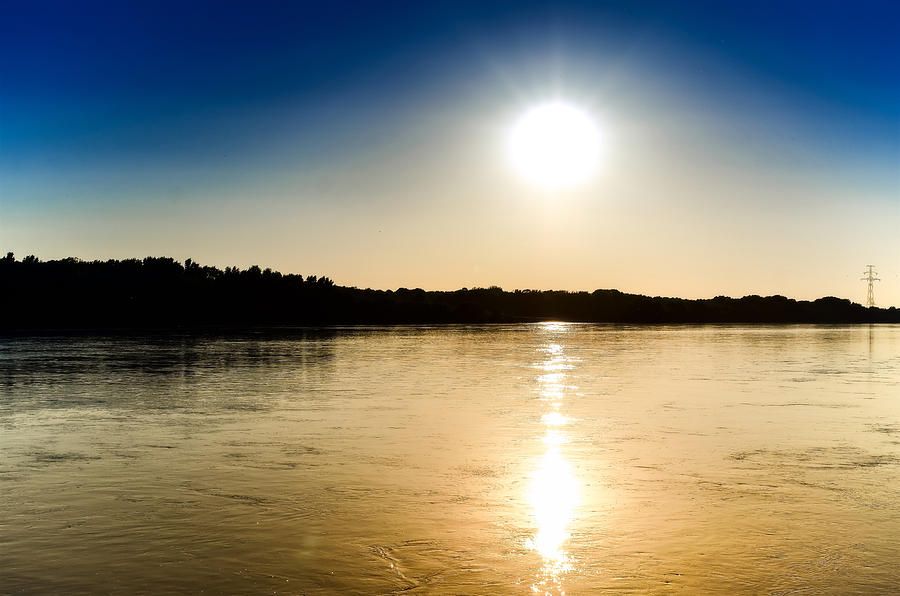 Vistula Photograph - Vistula River Sunset 2 by Tomasz Dziubinski