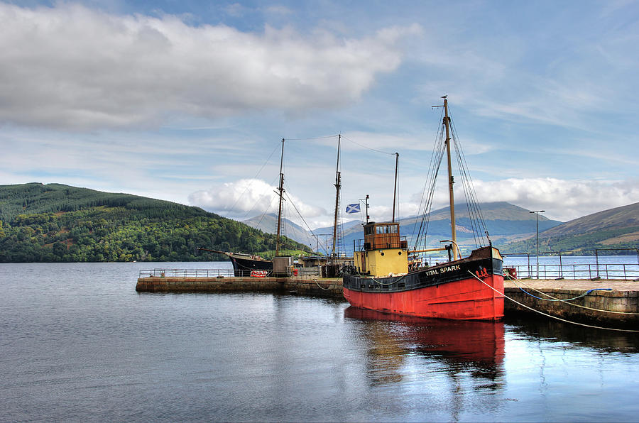 Landscape Photograph - Vital Spark at Inverary, Scotland by Peggy Berger
