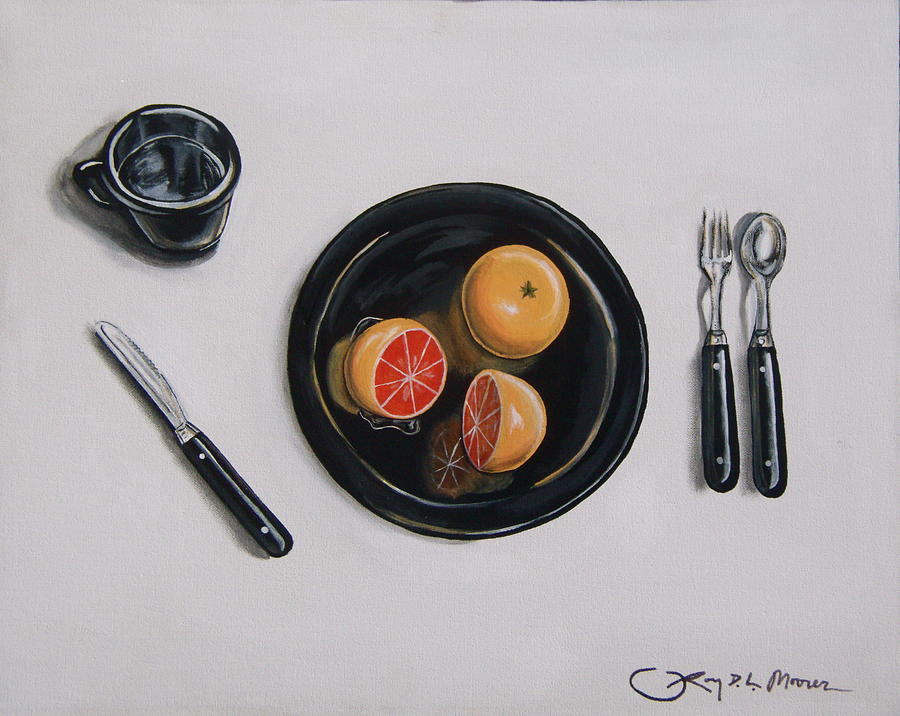 Still Life Painting - Vitamin C Spheres by Rory Moorer