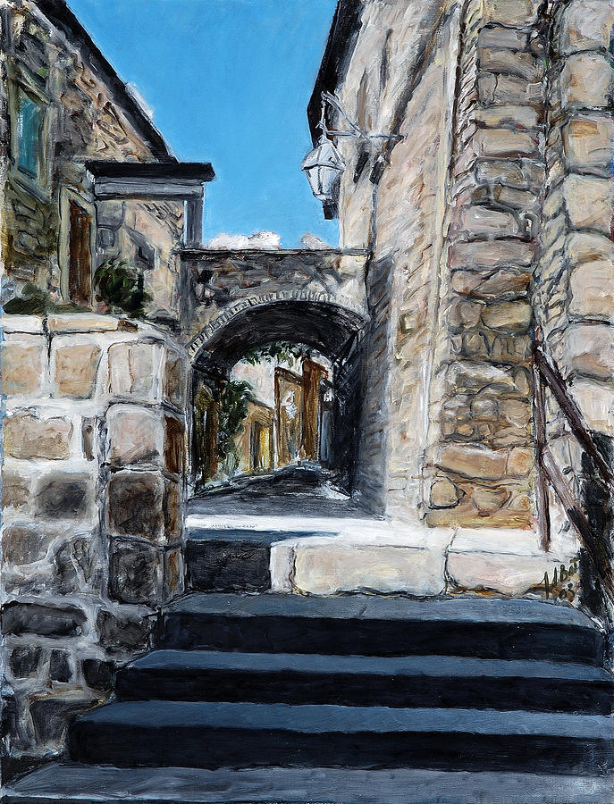 Viterbo Archway Painting by Joan De Bot