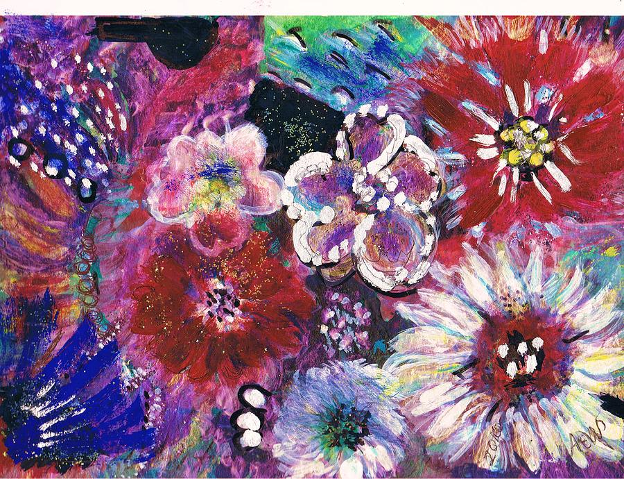 Flores Painting - Viva Con Pasion by Anne-Elizabeth Whiteway