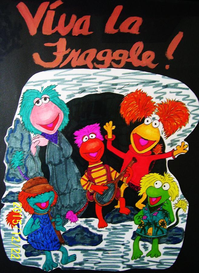Fraggle Rock Drawing - Viva La Fraggle by Amanda Sparrow