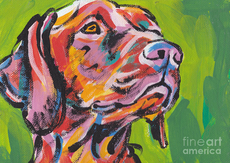 Viva la vizsla painting by lea s for Dog painting artist