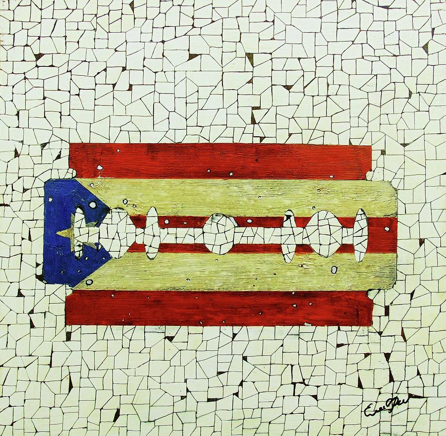 Popart Painting - Viva Porto Rico by Emil Bodourov