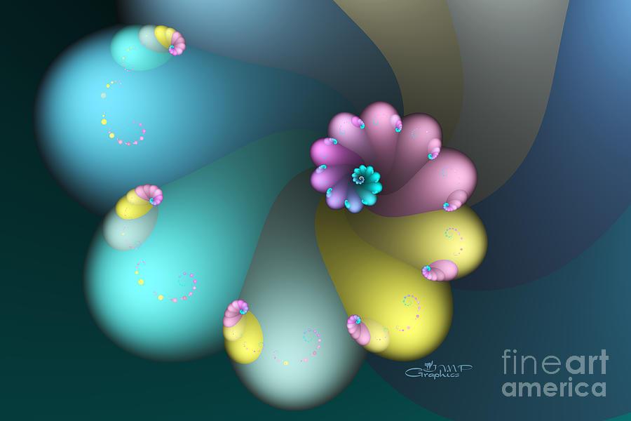 Fractal Digital Art - Vivid Whisper by Jutta Maria Pusl