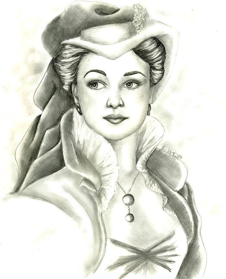 Vivien Drawing by Scarlett Royal