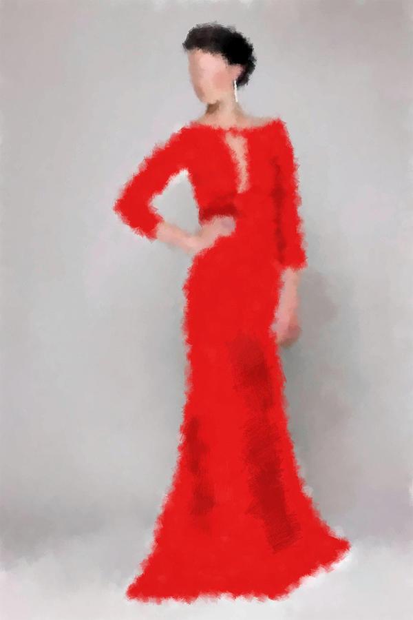 Vivienne Digital Art by Nancy Levan