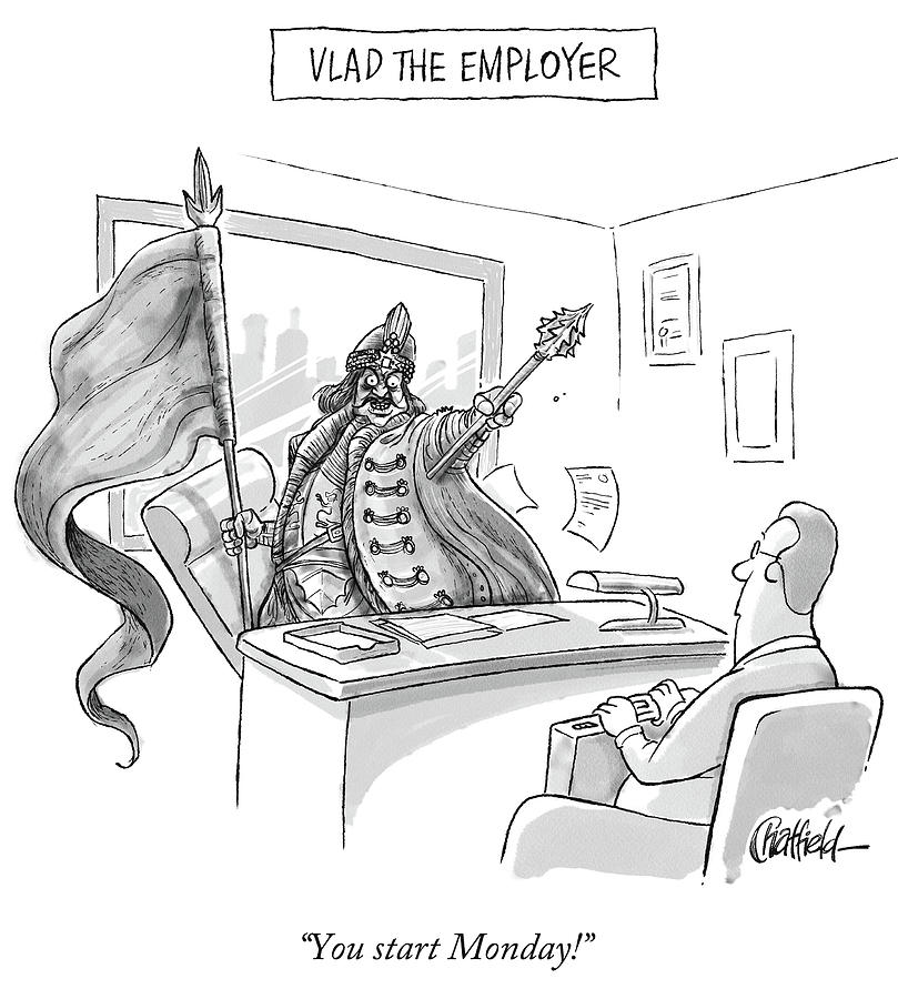 Vlad The Employer Drawing by Jason Chatfield
