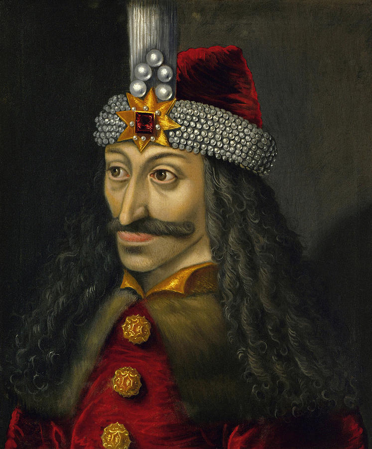 Vlad Dracula Painting - Vlad The Impaler Portrait  by War Is Hell Store
