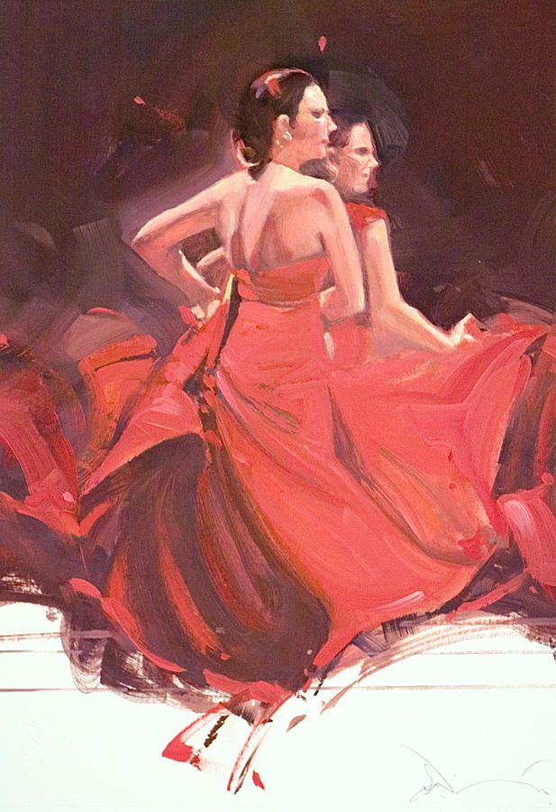 Flamenco Mixed Media - Voces Y Ecos Oil Study by Charles Willmott