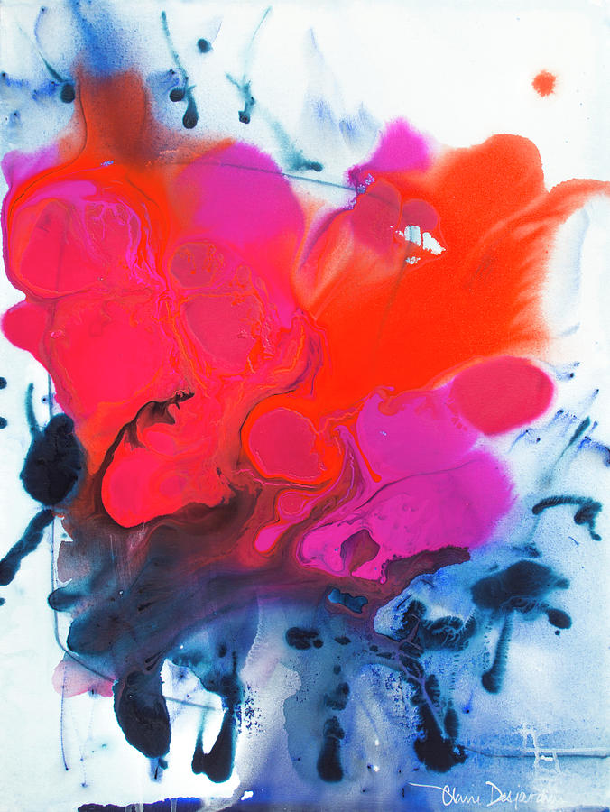 Abstract Painting - Voice by Claire Desjardins
