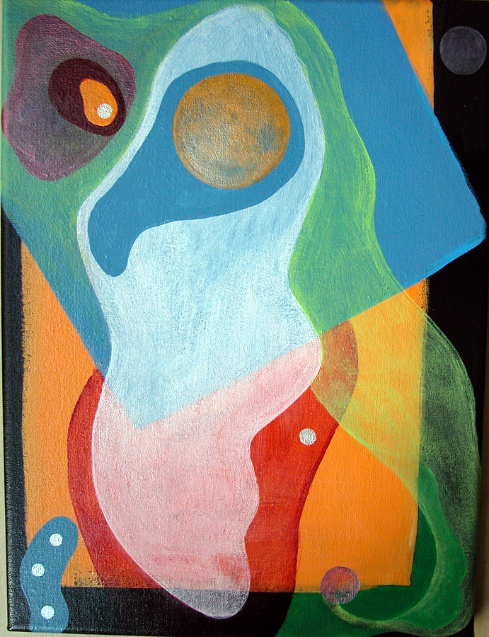 Abstract Painting - Voile by Muriel Dolemieux