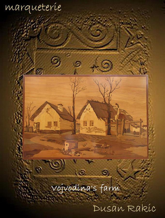 Landscape Mixed Media - Vojvodinas Farm by Dusan Rakic