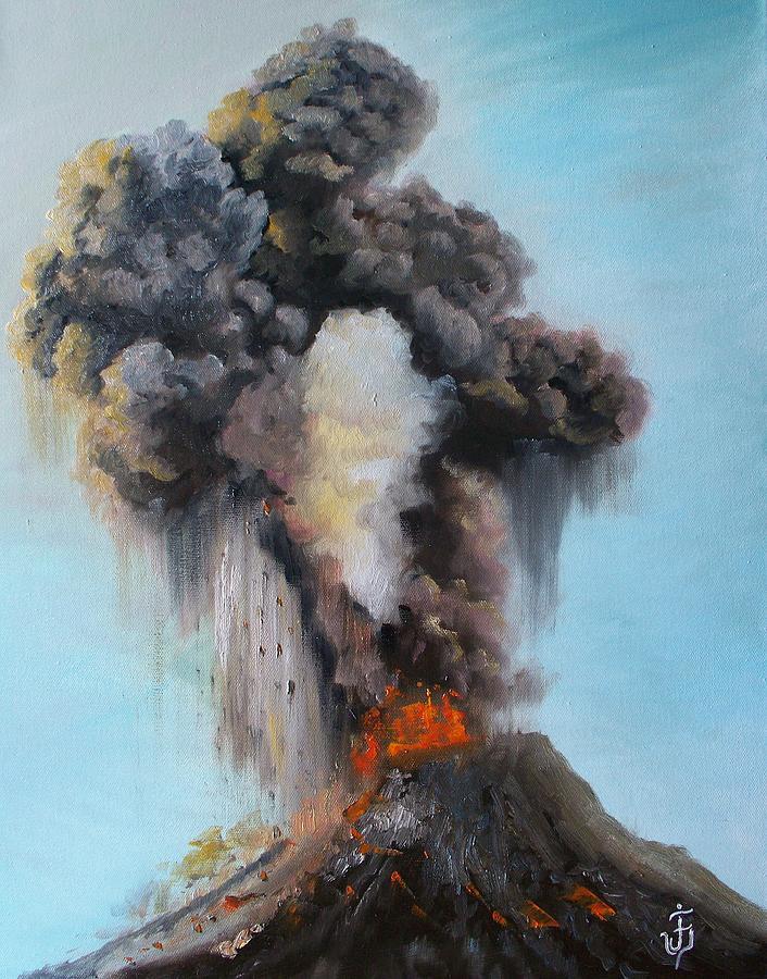 Landscape Painting Painting - Volcan De Fuego by Jose Velasquez