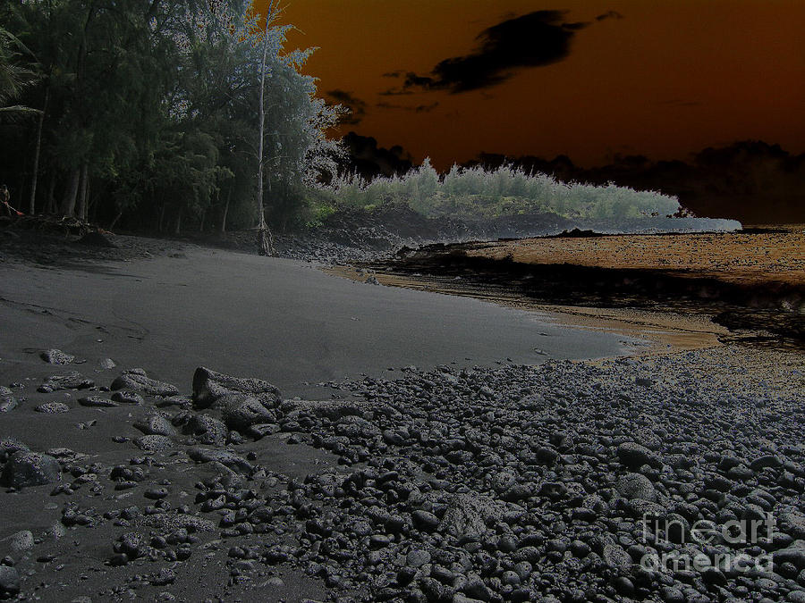 Landscape Photograph - Volcanic Beach by Silvie Kendall