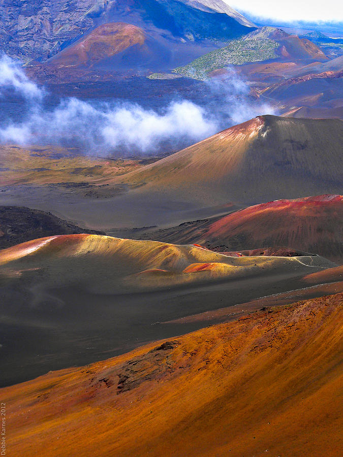 Volcano Photograph - Volcanic Crater In Maui by Debbie Karnes