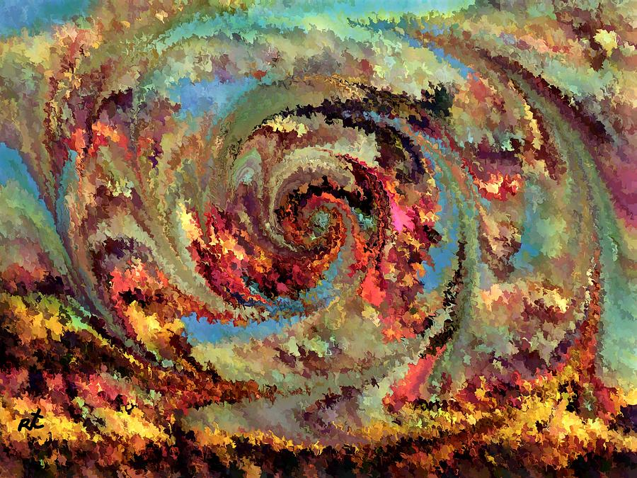 Eruption Painting - Volcanic Eruption by Rafi Talby