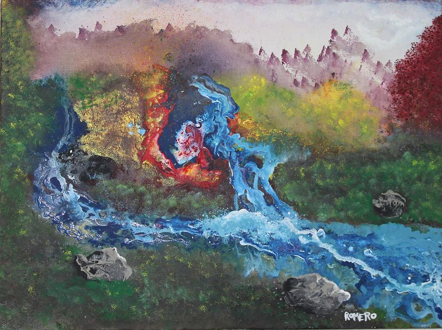 Landscape Painting - Volcano Delta by Antonio Romero