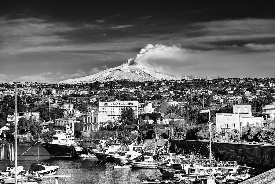 Volcano Etna seen from Catania - Sicily. by Mirko Chessari