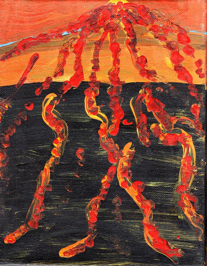 Volcano Eruption Painting - Volcano by Rosemary Mazzulla
