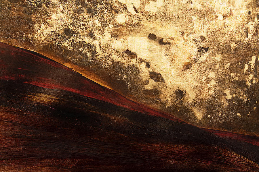 Abstract Painting - Volcano Sunrise by Tara Thelen - Printscapes