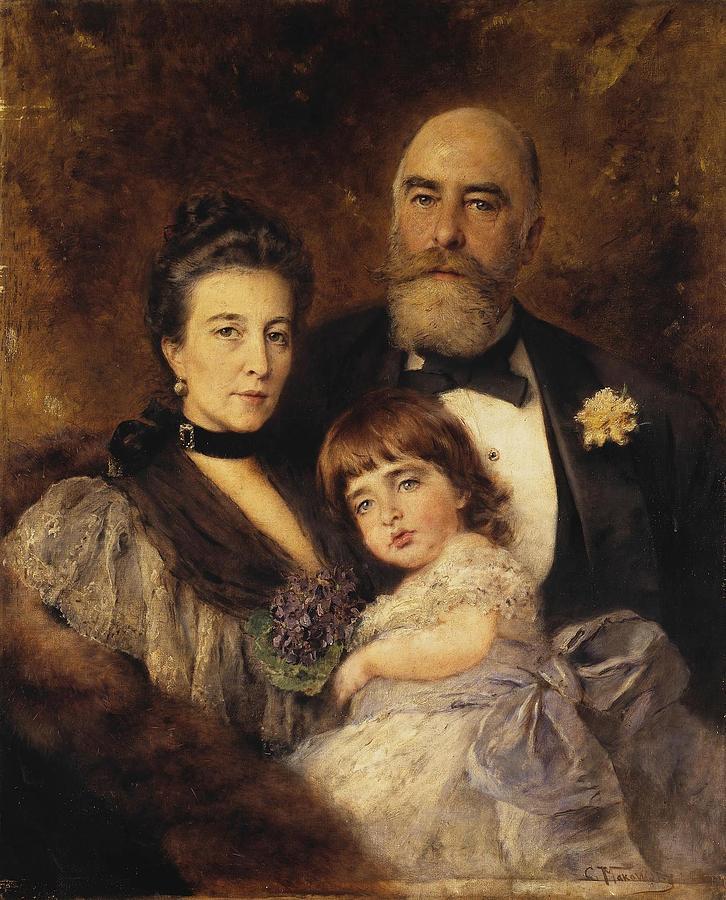 Girl Painting - Volkov Manzei Family Makarov. 1890 by Volkov Manzei