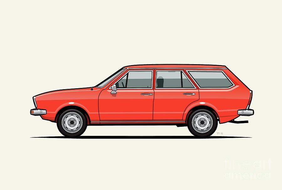 Volkswagen Dasher Wagon / VW Passat B1 Variant by Monkey Crisis On Mars