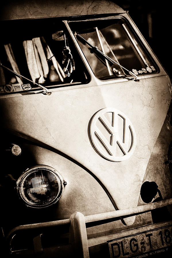 Volkswagen VW Bus Emblem -1355s by Jill Reger