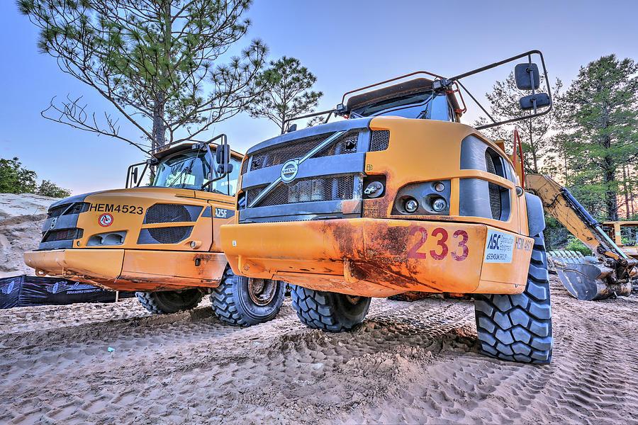 Volvo Trucks Photograph - Volvo Heavy Equipment  by JC Findley