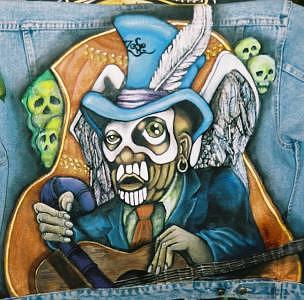 Led Zeppelin Painting - Voodoo Blues God by Janet Gioffre Harrington