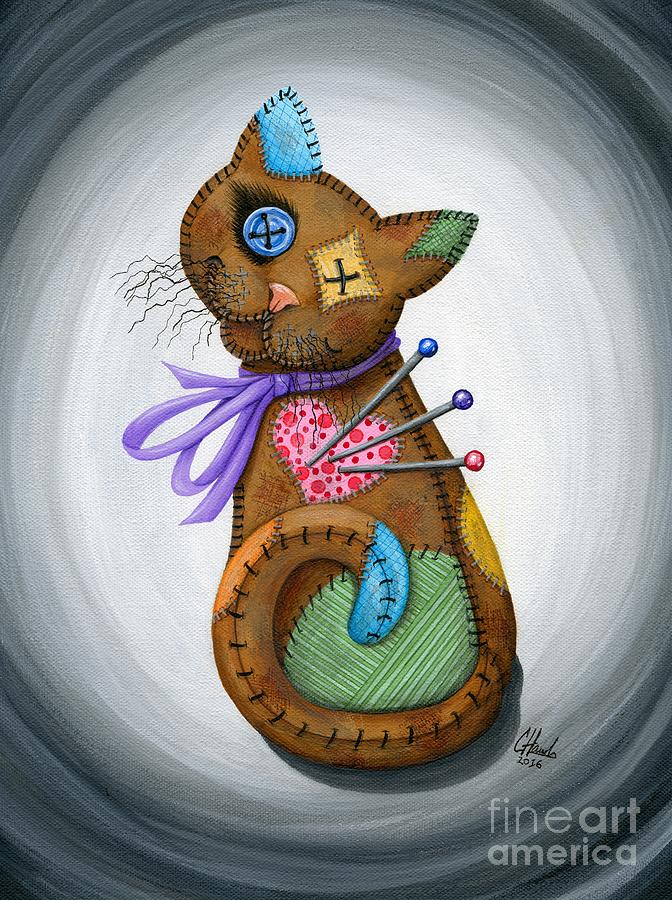 Voodoo Cat Doll - Patchwork Cat by Carrie Hawks