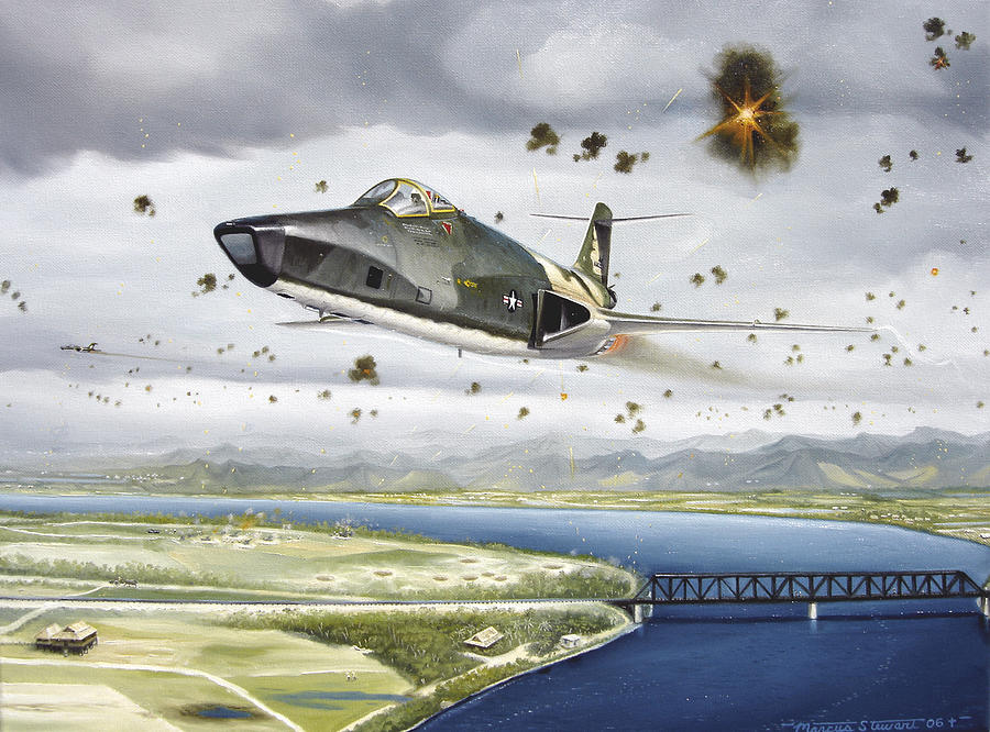 Military Painting - Voodoo Vs The Dragon by Marc Stewart