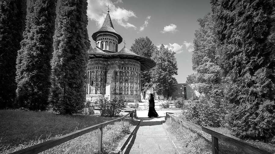 Architecture Photograph - Voronet Monastery - Romania - Black And White Photography by Giuseppe Milo