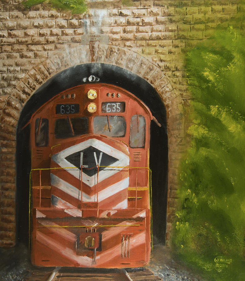 Train Painting - Vosburg Tunnel by Christopher Jenkins