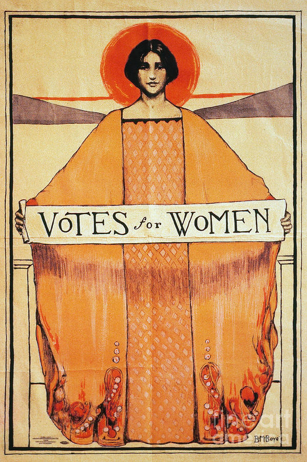 1911 Photograph - Votes For Women - To License For Professional Use Visit Granger.com by Granger