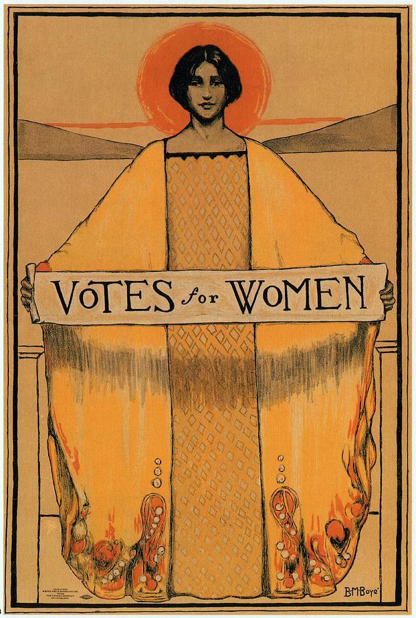 Votes For Women Mixed Media - Votes for Women - Vintage Propaganda Poster by Studio Grafiikka
