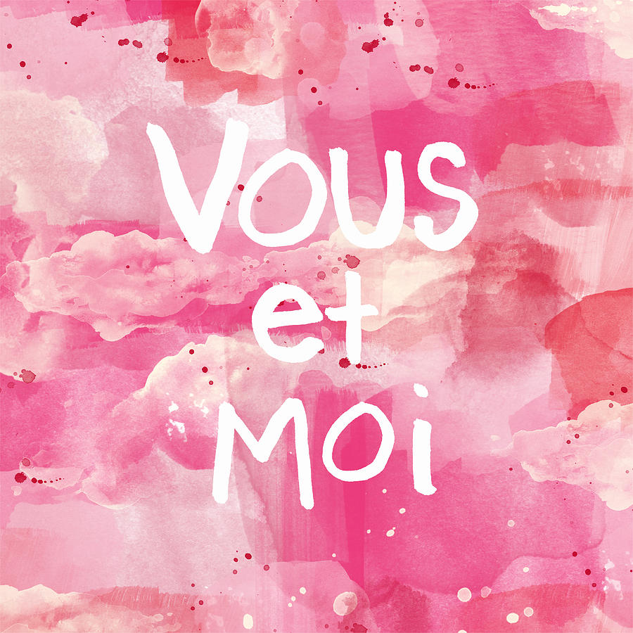 French Painting - Vous Et Moi by Linda Woods