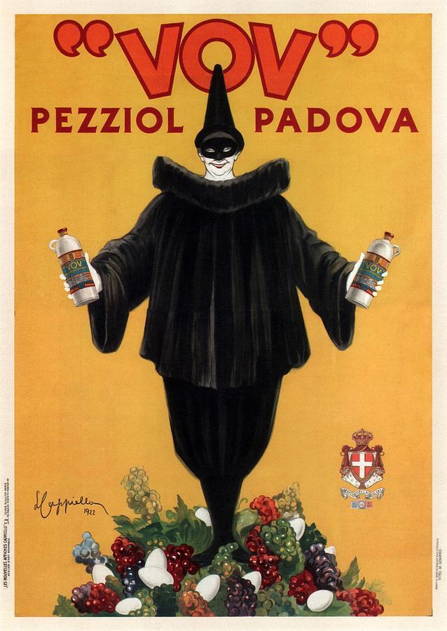 Vov Pezziol - Italian Liquer - Padova, Italy - Vintage Advertising Poster Mixed Media