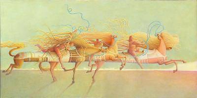 2004 Painting - Voyage In Search Of The Moon by Giuseppe Mariotti