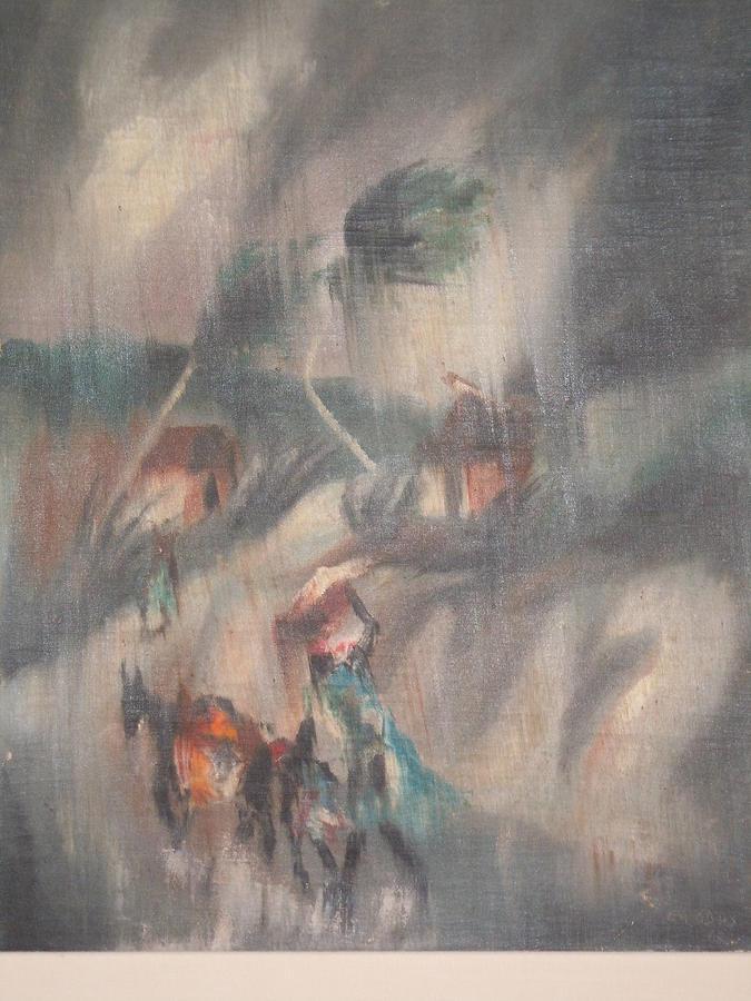 Ayiiboo Voyageurs Sous La Pluie Painting