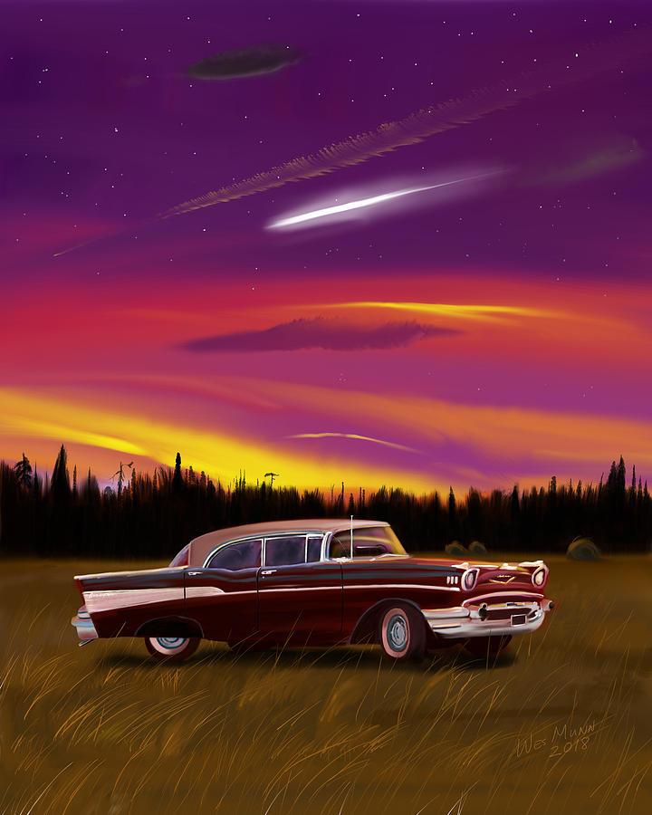 Chevy Digital Art - Vintage Stars by Wes Munn