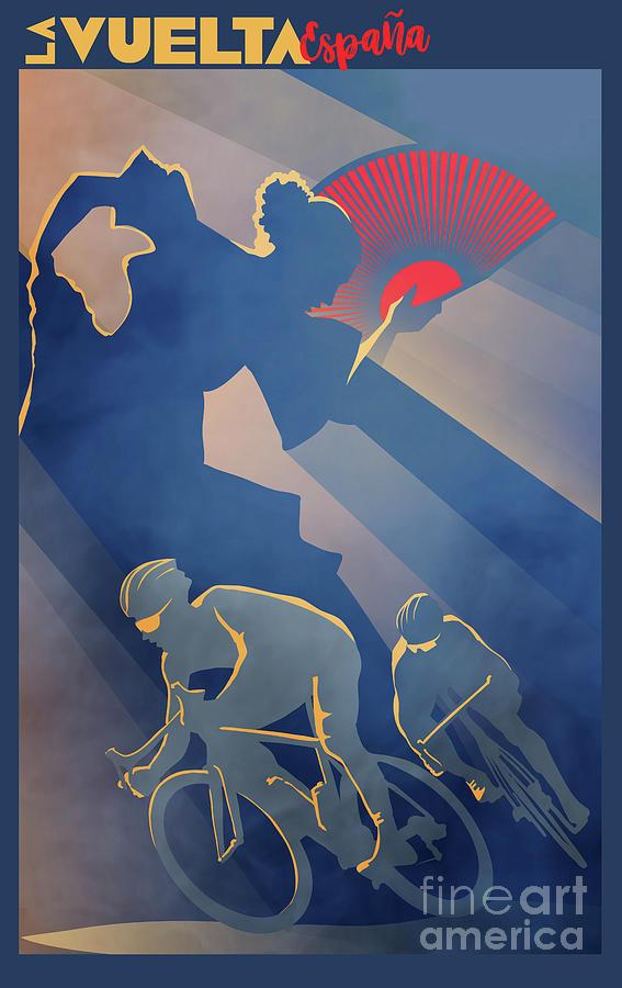 La Vuelta Digital Art - Vuelta Espana by Sassan Filsoof