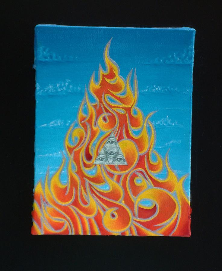 Fire Painting - Vulcan by Bob Walls