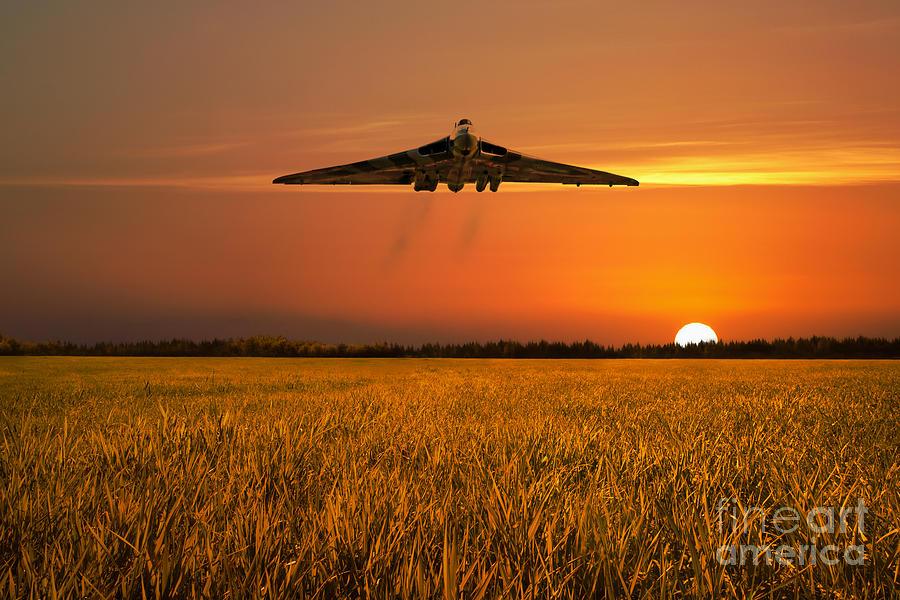 Avro Digital Art - Vulcan Farewell Fly Past by J Biggadike