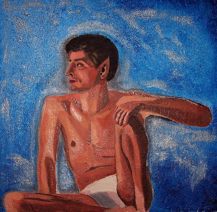 Nude Painting - Vulcan by Michael Lewis